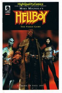 HELLBOY : VIDEO GAME Promo, NM, Mike Mignola, 2007, ashcan, more in store
