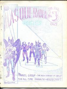 Masquerader #3 1963-Mike Vosburg-Hawkman-Joe Kibert-Biljo White-FR