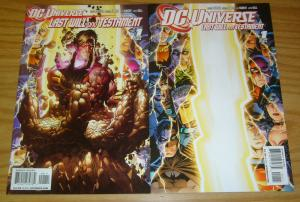 DC Universe: Last Will and Testament #1 VF/NM one-shot + variant - brad meltzer