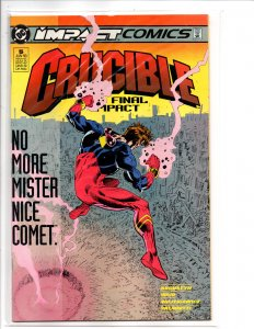 DC Impact Comics Crucible #5 Mark Waid Story Dick Giordano Cover Jimmy Palmiotti