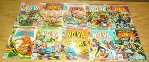 Nova #1-25 FN/VF complete series - bronze age marvel comics - wolfman/buscema