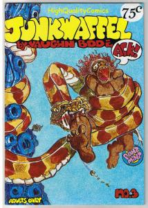 JUNKWAFFEL #3, VF, Underground, 2nd, Vaughn Bode,1972, more UG in store