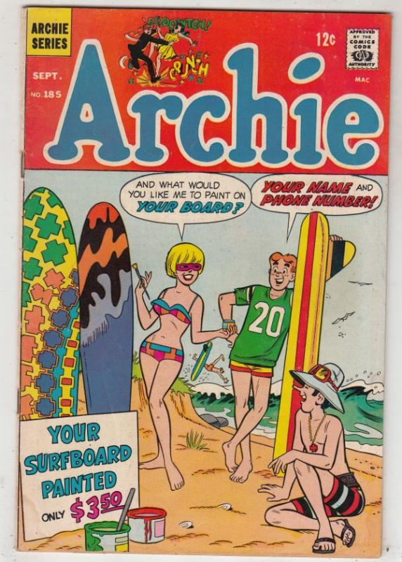 Archie #185 (Sep-68) VG+ Affordable-Grade Archie