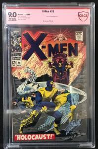 X-Men #26 (Marvel, 1966) CBCS 9.0  verified signature STAN LEE