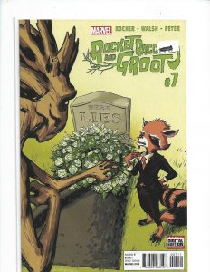 Rocket Raccoon And Groot #7 NM  Civil War ll  Marvel Comics R01