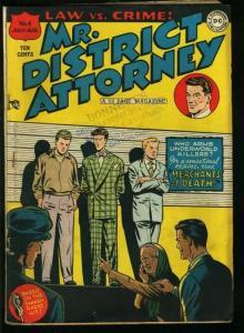 MR. DISTRICT ATTORNEY #4-DC PRE-CODE CRIME COMIC VG