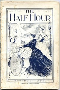 HALF HOUR-OCT 1899-EARLY PULP MAGAZINE-THE FORTUNE TELLER OF LOS ANGELES-RARE