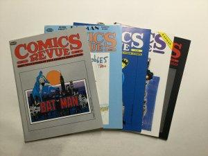 Comics Revue 41-45 Magazine Lot Very Fine Vf 8.0 Manuscript Press Production
