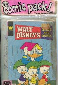 Walt Disney Comics and Stories Whitman Comics 3 Pack 1970's-Uncle Scrooge-Daf...