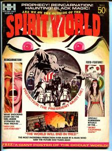 Spirit World #1 1971-Hampshire-1st issue-Jack Kirby-poster still attached-VG