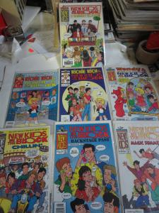 HARVEY COMICS NEW KIDS ON THE BLOCK 1990-1991 Lot of 7 Richie Rich Wendy F-VF+