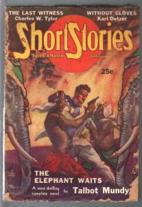 Short Stories 2/25/1937-Doubleday-Talbot Mundy story-Elephant Waits-pulp thrills
