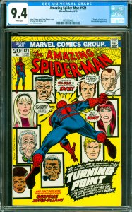 Amazing Spider-Man #121 CGC Graded 9.4 Death of Gwen Stacy. Green Goblin ap...
