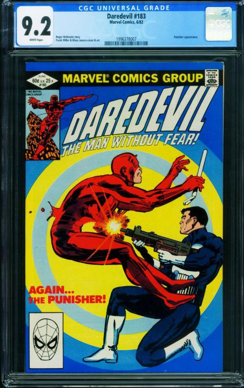 DAREDEVIL #183 CGC 9.2  PUNISHER Marvel Comics 1996378007