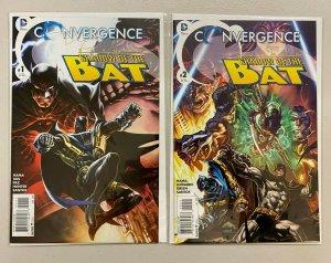 Convergence Batman Shadow of Bat set #1 A + #2 A both different 8.0 VF (2015)
