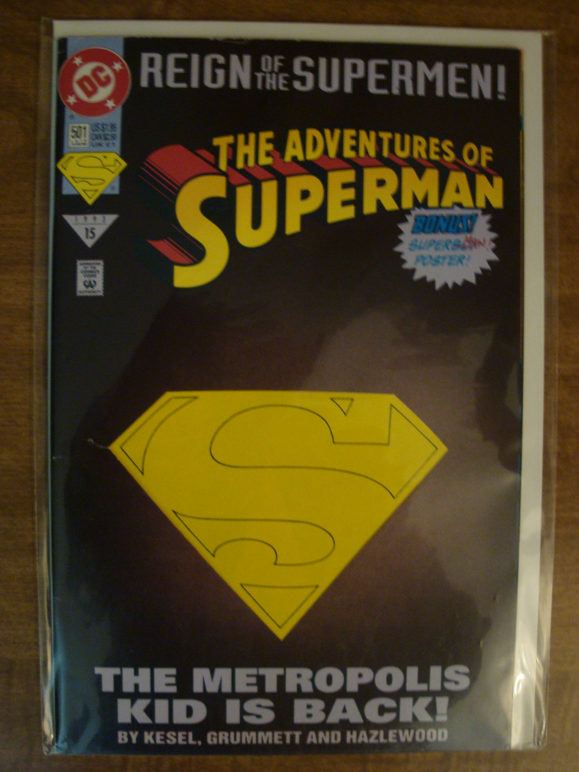 ADVENTURES OF SUPERMAN #501 DIE-CUT COVER VF//NM