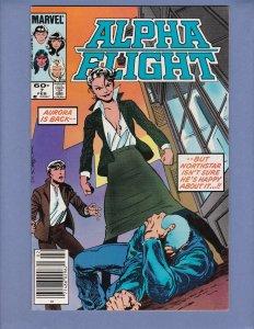 Alpha Flight #7 VF Origin Snowbird Marvel 1984