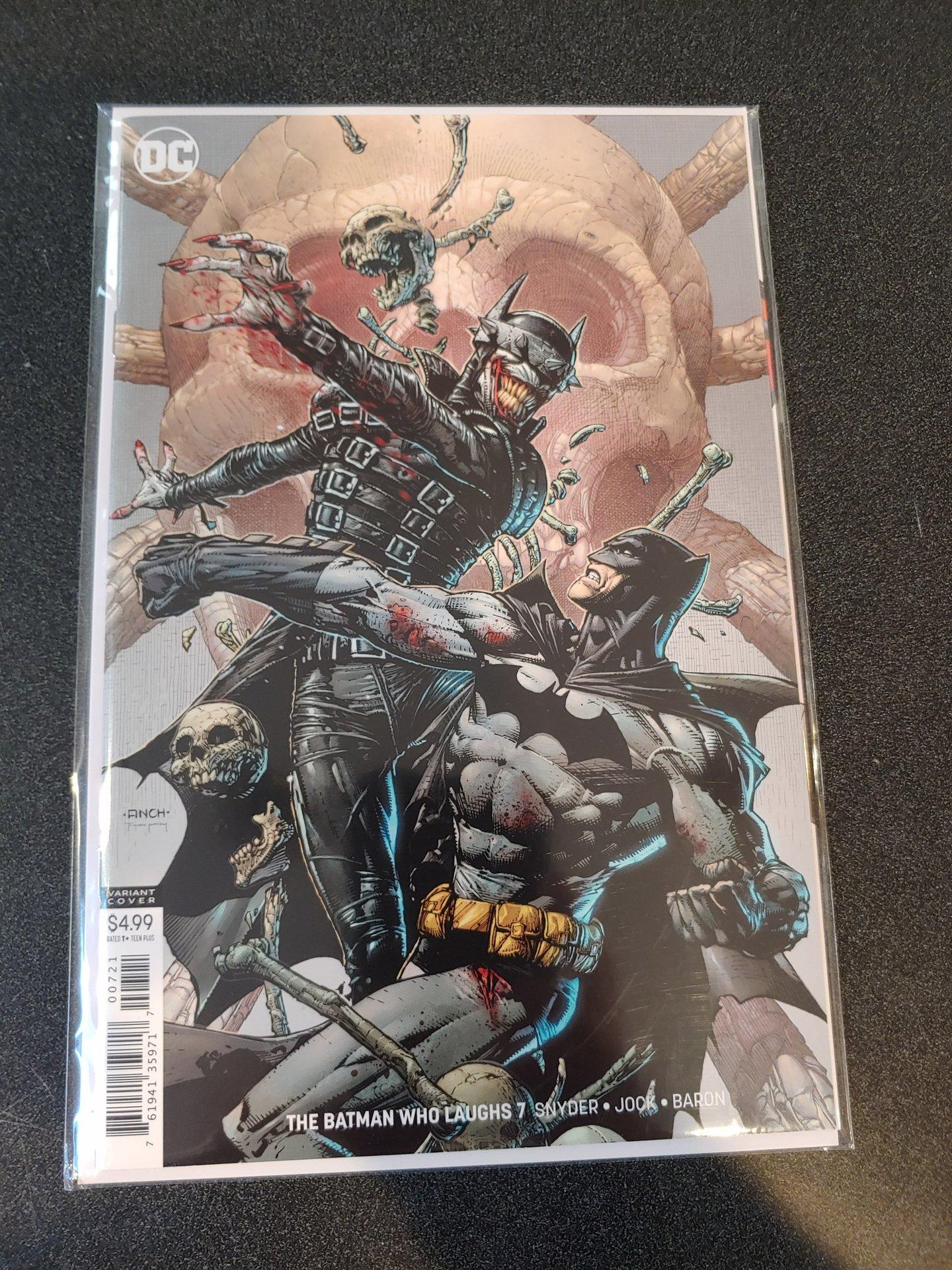 BATMAN THE BATMAN WHO LAUGHS #7 DAVID FINCH VARIANT COVER NM!