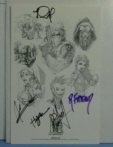 Wildstorm Comics 10th Anniversary 2002 Print SIGNED 5 Artists Friend Hope D'Anda