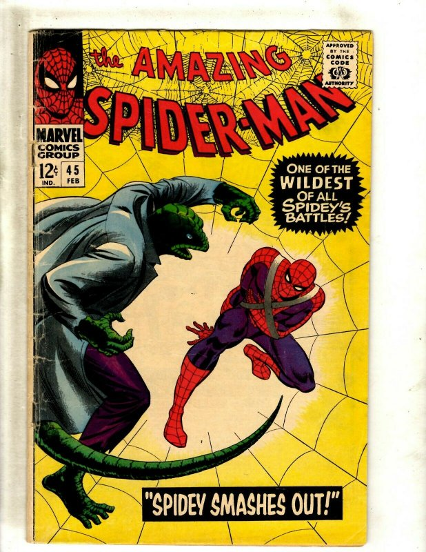 Amazing Spider-Man # 45 VG/FN Marvel Comic Book Mary Jane Appearance Gwen BJ1