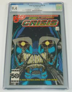 Crisis on Infinite Earths #6 CGC 9.4 key book 1ST WILDCAT george perez art dc