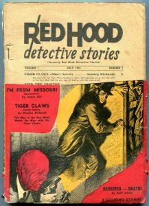 Red Hood Detective Stories Pulp #1 1941- Tiger Claws- Rare- return copy