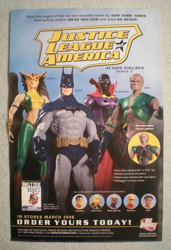JUSTICE LEAGUE OF AMERICA Promo Poster, 2008, Unused, more in our store