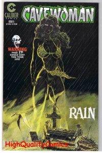 CAVEWOMAN RAIN #6, VF+, Dinosaurs, Femme Fatale, Budd Root, 1996