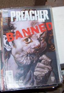 preacher  #58 vertigo dc 2000 garth Ennis high quality  PAINTED COVER BY FABRY