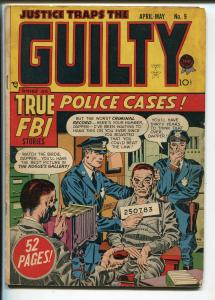 Justice Traps The Guilty #9 1949-Prize-Simon& Kirby-pre-code crime-VG+
