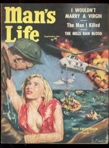 MANS LIFE-SEPT 1954-SPICY GOOD GIRL ART COVER-COMMIES FN