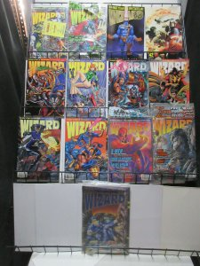 Wizard Magazine Lot of 13Diff from 1993 to 1995 X-Men Image Marvel Super-Heroes!