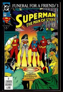 Superman Man of Steel #20 Funeral for a Friend 3 (Feb 1993, DC)  8.0 VF