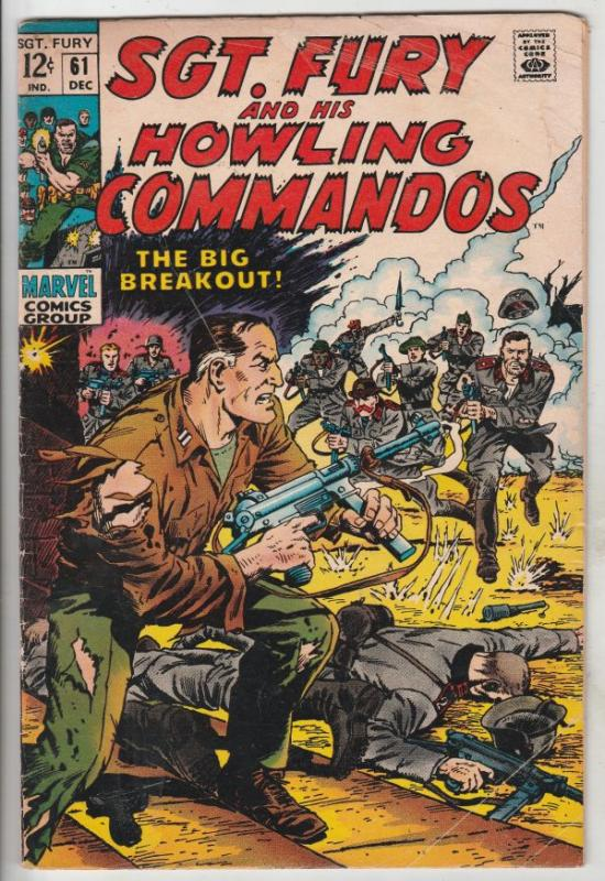 Sgt. Fury and His Howling Commandos #61 (Dec-68) VG Affordable-Grade Sgt. Fur...