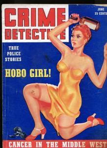 CRIME DETECTIVE-06/1939-CULT MURDER-HOBO GIRL-CRIME LAB-SPIRIT LARCENY VG