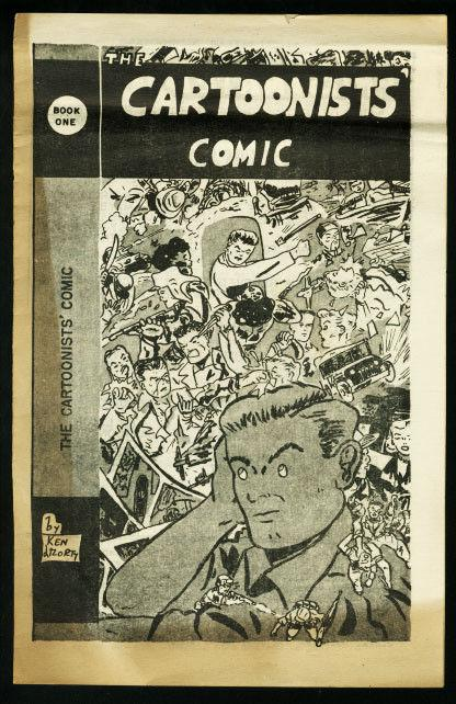 CARTOONISTS' COMIC #1-1954 RARE-FANZINE VG