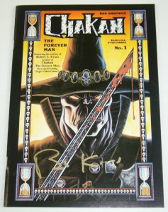 Chakan #1 VF; signed by Robert (Bob) A Kraus - RAK Graphics