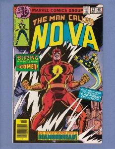 Nova #22 VF Comet Diamondhead Marvel 1978