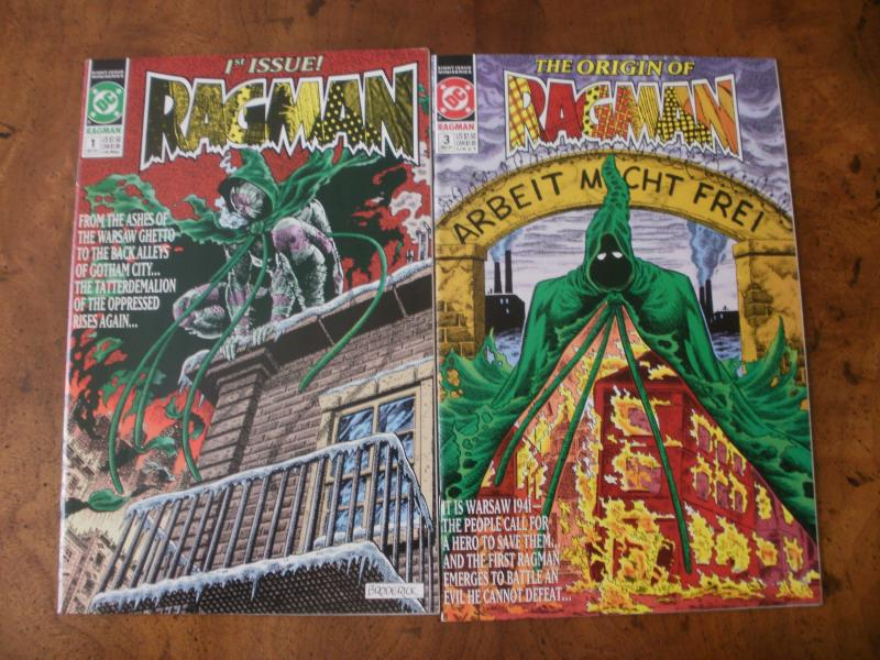 Ragman #1 #3 (DC Mini-Series) 1991 1st Issue Origin