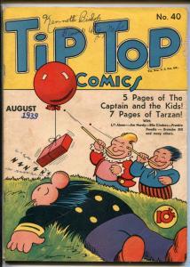 TIP TOP #40 1939-UNITED-TARZAN-LI'L ABNER-ERNIE BUSHMILLER-ELLA CINDERS-vg+