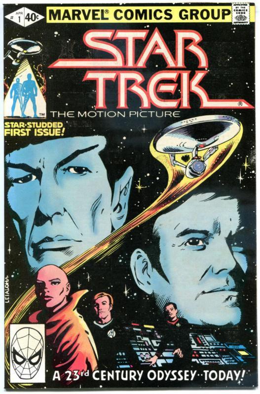 STAR TREK #1, NM-, Captain Kirk, Spock, Nimoy, Sulu, 1980, more Marvel in store