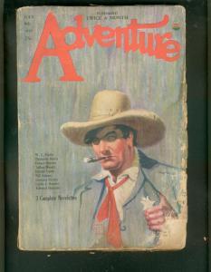 ADVENTURE PULP-7/8/1926-HAROLD LAMB-TUTTLE-TALBOT MUNDY FR