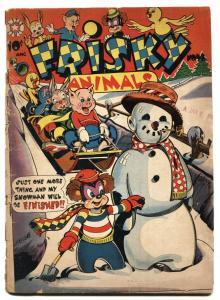 Frisky Fables #48 1950 L.B. Cole cover art-Snowman cvr