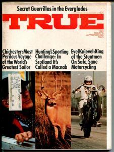 True 6/1973-Fawcett-Evel Knievel-motorcycle-VG