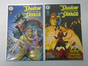 The Shadow and Doc Savage set #1+2 8.0 VF (1995 Dark Horse)