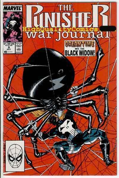 PUNISHER WAR JOURNAL #9, Jim Lee, Black Widow, NM+, Carl Potts, Guilt Trip