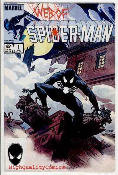 WEB of SPIDER-MAN 1, VF/NM, Charles Vess, Black Costume, 1985, more SM in store