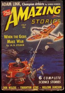 AMAZING STORIES 1940 JUL-EARLY SCIENCE FICTION PULP VG/FN