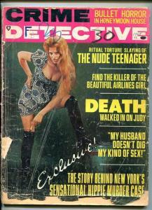 CRIME DETECTIVE-FEB. 1968-HORROR-TORTUE-SLAYING-KILLER-DEATH-MURDER-SLAUGHTER FR