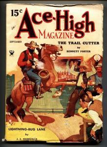 ACE-HIGH MAGAZINE Sep 1934-Hugh B Cave - Rudolph Belarski Pulp